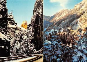 Winter im Schwarzwald Hirschsprung Hoellental Winter Road Bridge