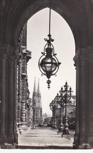 Aistria Vienna Wien Votivkirche Blick aus den Rathausarkeden 1957 Photo