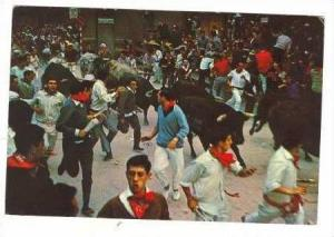 Running of the Bulls, PAMPLONA,Spain. PU 1972 1/2