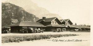 CANADIAN PACIFIC DEPOT AT BANFF, ALBERTA