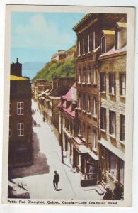 P801 1951 petite rue champlain, quebec, canada little champlain street scene