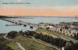 Michigan Detroit Bridge To Belle Isle Curteich
