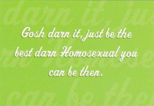 Homo-sexual Humour postcard 70-80s