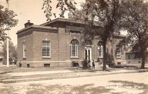 Lemars Iowa~U S Post Office in the Shade~1949 Postcard RPPC