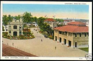 panama, Canal Zone, CRISTOBAL, Street Scene (ca. 1940)