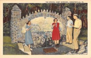 Arendtsville Pennsylvania Camp Nawakwa Spring Antique Postcard K83582