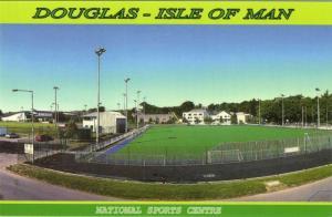 isle of man, DOUGLAS, Nat. Sports Centre Football Ground (1990) Stadium Postcard