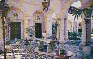 The East Loggia And A Glimpse Of The Courtyard Vizcaya Dade County Art Museum...