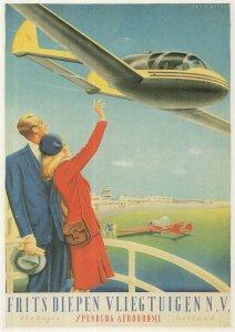 Frits Diepen Vliegtuigen Dutch Plane Poster Travel Postcard