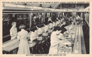 LP54 Century Progress Hiram Walker Exhibit    Illinois  Postcard