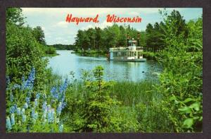 WI Namakagon Queen BOAT HAYWARD WISCONSIN Postcard PC
