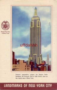 THE EMPIRE STATE BUILDING LANDMARKS OF NEW YORK CITY, NY 1945