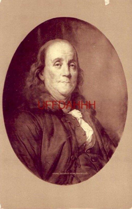 PORTRAIT OF BENJAMIN FRANKLIN by JOSEPH SILFREDE DUPLESSIS Phostint Detroit Publ