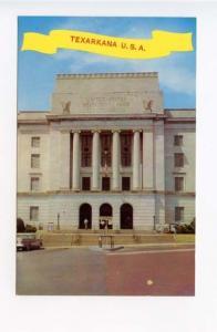 Texarkana AR Street View Old Car PO & Court House  Postcard
