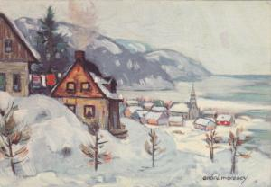 AS: Andre Morency, NORTH SHORE, Quebec, Canada; Winter View of small town, PU...