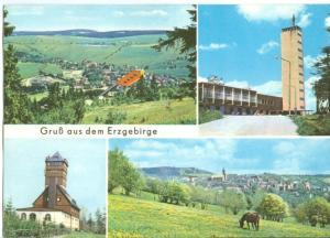 Germany, Gruss aus dem Erzgebirge, used Postcard