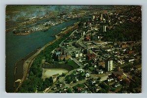 Tacoma WA- Washington Tacoma Stadium and Stadium High, Aerial, Chrome Postcard