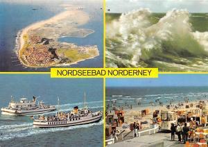 Nordseebad Norderney Insel Island Sea Waves Beach Boats Schiff