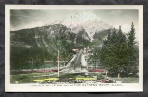 5286 - BANFF Alberta 1940s Cascade Mountain Real Photo Postcard by Gowen Sutton