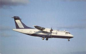 Small Airplane, ATR 42-300, C-FIQN MSN 118, INTAIR, Flying Into Dorval Airpor...
