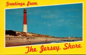 New Jersey Greetings from The Jersey Shore With Barnegat Lighthouse