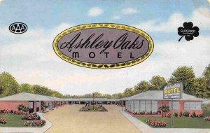 Ashley Oaks Motel Valdosta Georgia 1952 linen postcard