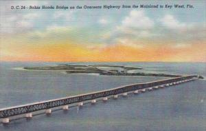 Florida Key West Bahia Honda Bridge On The Overseas Highway From The Mainland...