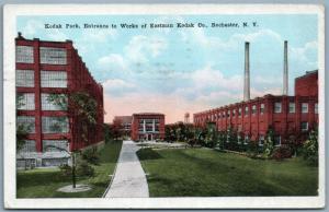 ROCHESTER NY KODAK PARK 1921 ANTIQUE POSTCARD