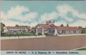 California Bakersfield Santa Fe Motel U S Highway 99 sk2676