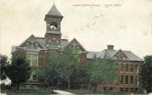 Ithaca Michigan~Union School~ Belfry~Victorian Architecture~1908 Postcard