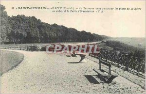 Old Postcard Saint Germain en Laye (S & O) The Terrace BUILT on maps of the Our