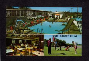 UT Demmans Demman's Motel Cafe Salt Lake City Utah Postcard Golf Course Golfing