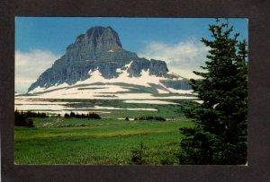 MT Summit Logan Pass Glacier National Park Montana Postcard