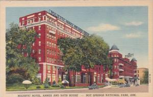 Arkansas Hot Springs Majestic Hotel Annex and Bath House Curteich