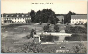 Goffs Falls, New Hampshire Postcard THE ELMS Hotel Boarding House Artvue 1930s