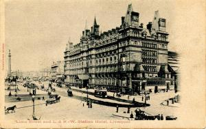 UK - England, Liverpool. Lime Street & L & NW Station Hotel