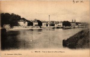 CPA   Melun - Tour et Quai de la Reine-Blanche   (436338)
