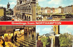 B103391 greetings from northampton the guildhall market square    uk