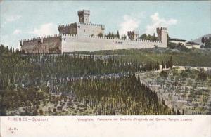 Italy Firenze Dintorno Vincigliata Panorama del Castello