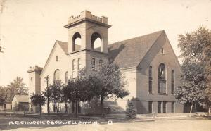 Rockwell City IA~Castellated Belfry~United Methodist Episcopal Church RPPC c1910