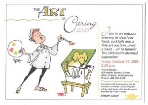 West Chester PA Art of Caring Invitation Card Auction 2005 B