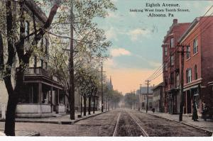ALTOONA, Pennsylvania, PU-1913; Eighth Avenue looking West from Tenth Street