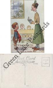 Comic, Salmon Postcard - F.G. Lewin - School Humour