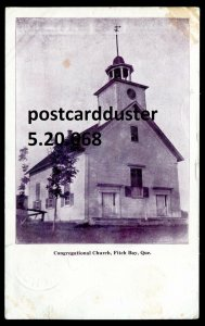 068 - FITCH BAY Quebec Postcard 1919 Congregational Church by Howie