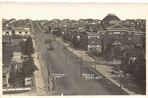 Moose Jaw Canada~Birdseye Panorama Main Street~Laundry~Voque~Trolleys~1915 RPPC