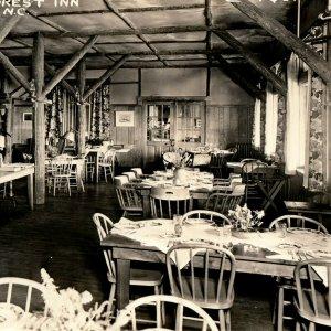 North Carolina Postcard Pisgah Forest Inn Mount Pisgah ca 1920 Dining Room RPPC