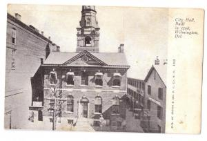 City Hall Wilmington DE UDB ca 1906 Postcard