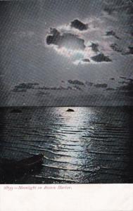 Massachusetts Boston Moonlight On Boston Harbor