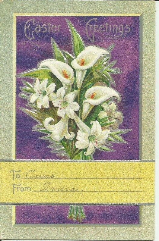 Easter Greetings Easter Lily Series  -- Embossed