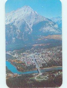 Pre-1980 AERIAL VIEW Banff Alberta AB AC9801